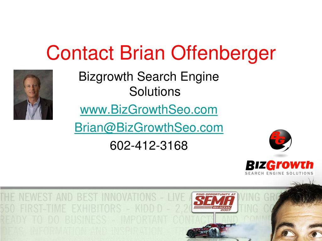 Contact Brian Offenberger