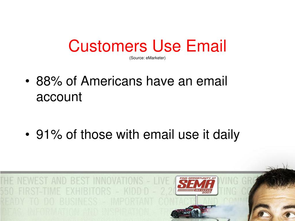 Customers Use Email
