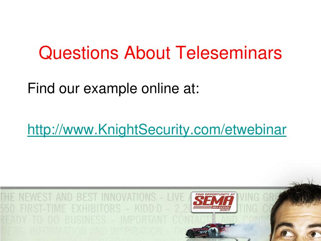 Questions About Teleseminars
