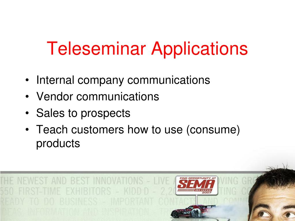 Teleseminar Applications