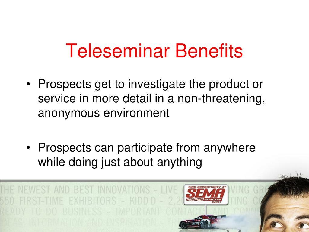 Teleseminar Benefits