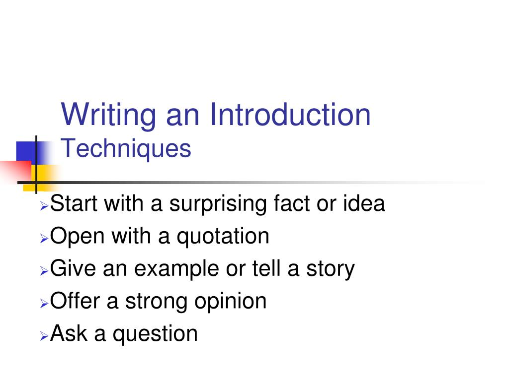 Essay writing techniques ppt presentation