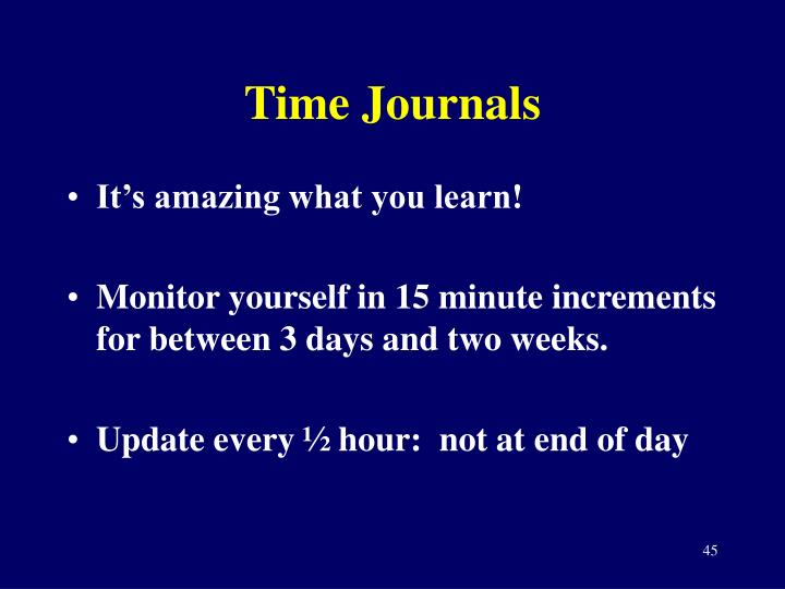 Time Journals