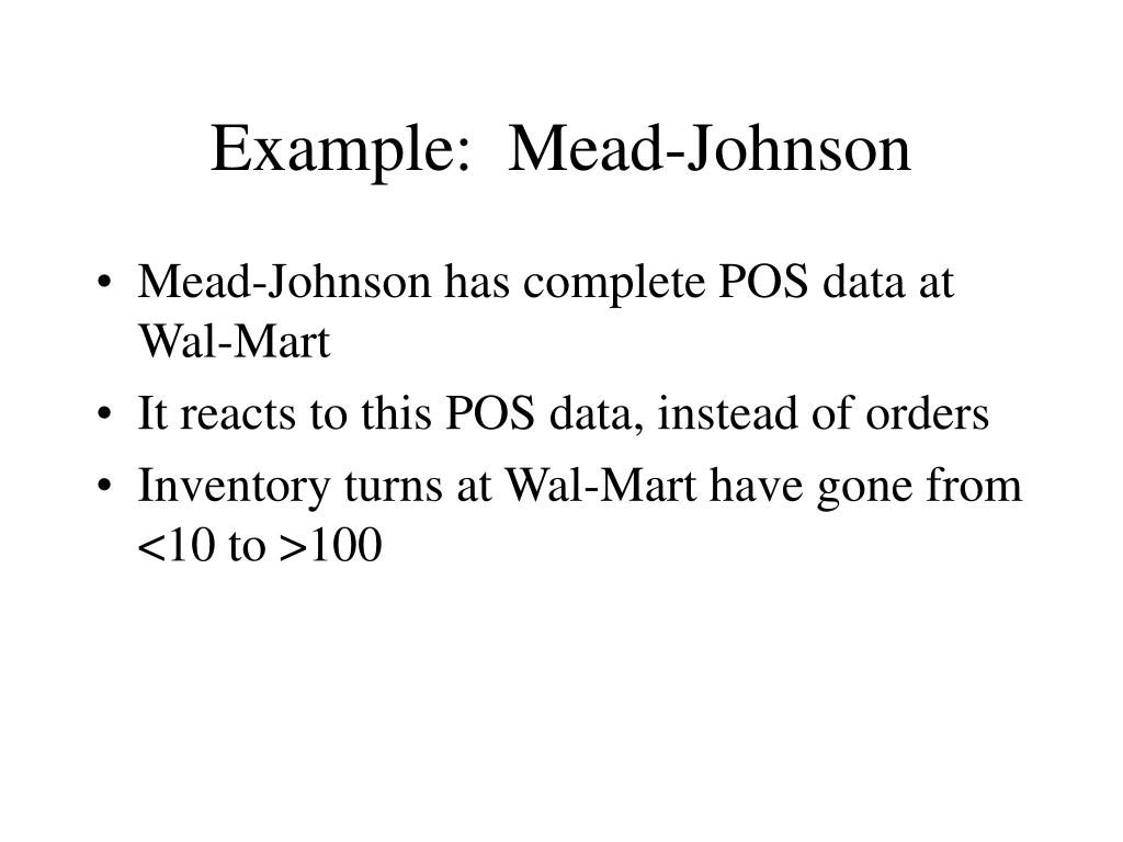 Example:  Mead-Johnson