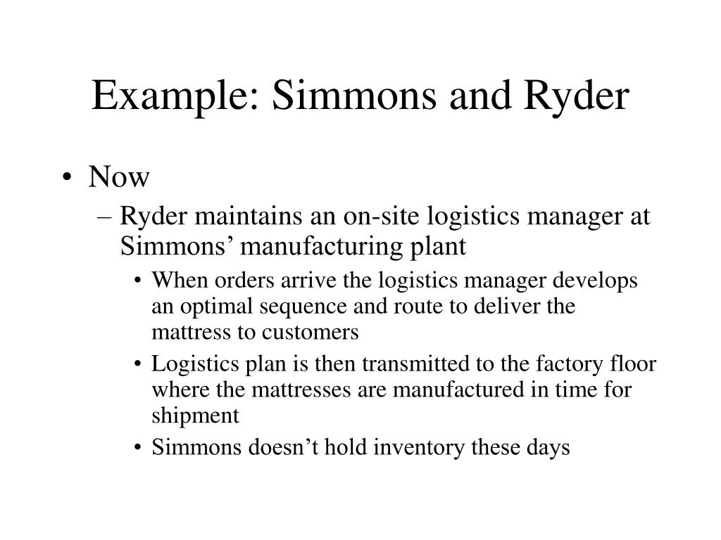 Example: Simmons and Ryder