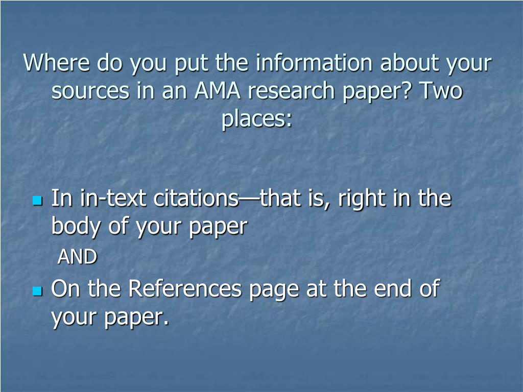 sources research paper How to research a paper  if you want, you could also scan in or photocopy some of your paper sources, so you can make notes or highlight on copies of them.