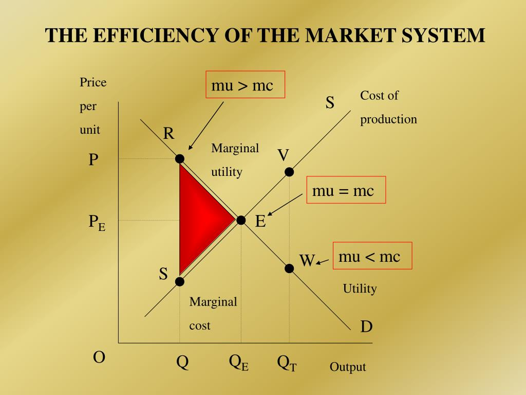 THE EFFICIENCY OF THE MARKET SYSTEM