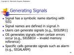 generating signals