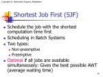 shortest job first sjf
