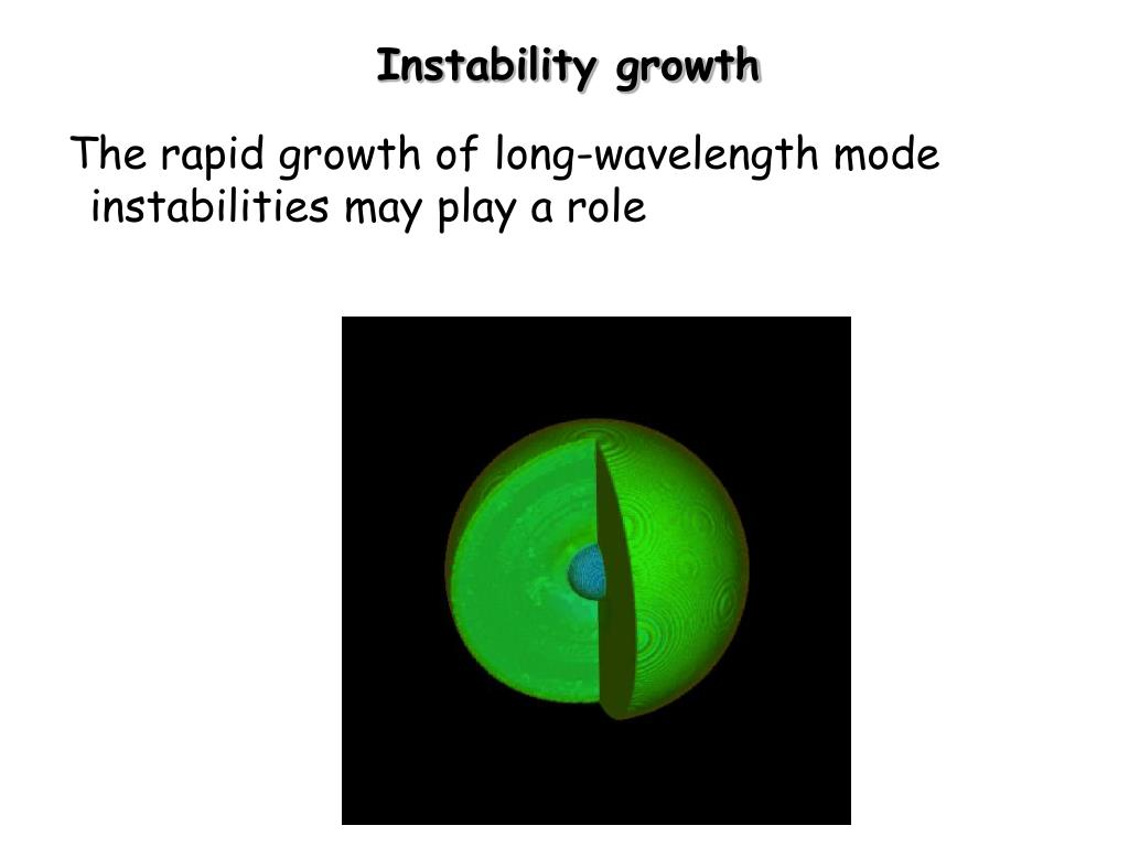 Instability growth