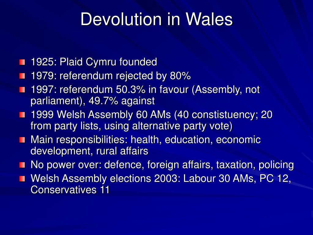 Devolution in Wales