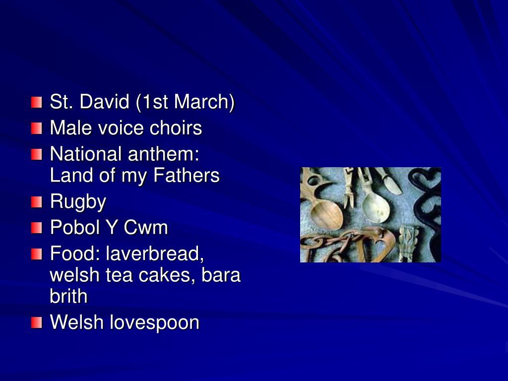 St. David (1st March)