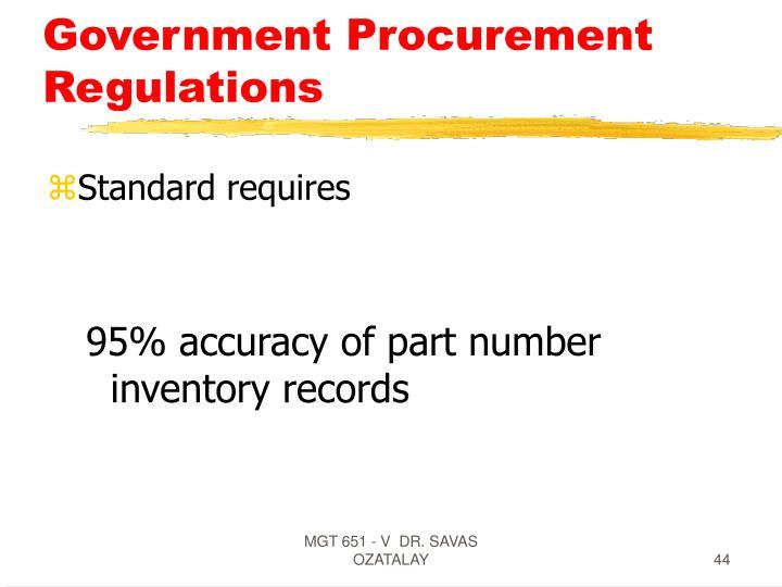 Government Procurement Regulations