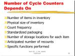 number of cycle counters depends on
