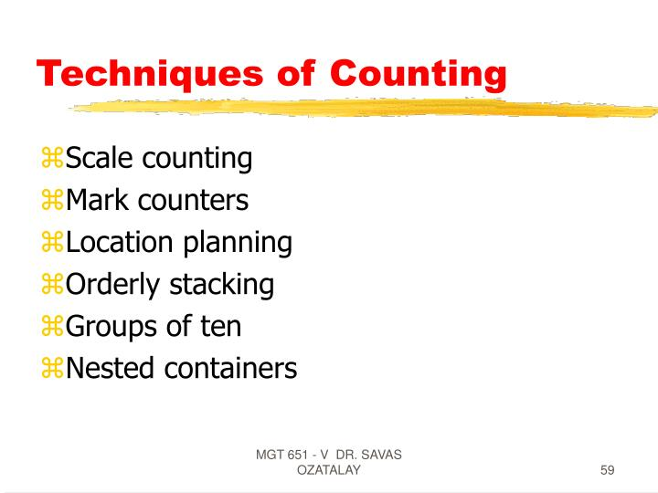 Techniques of Counting