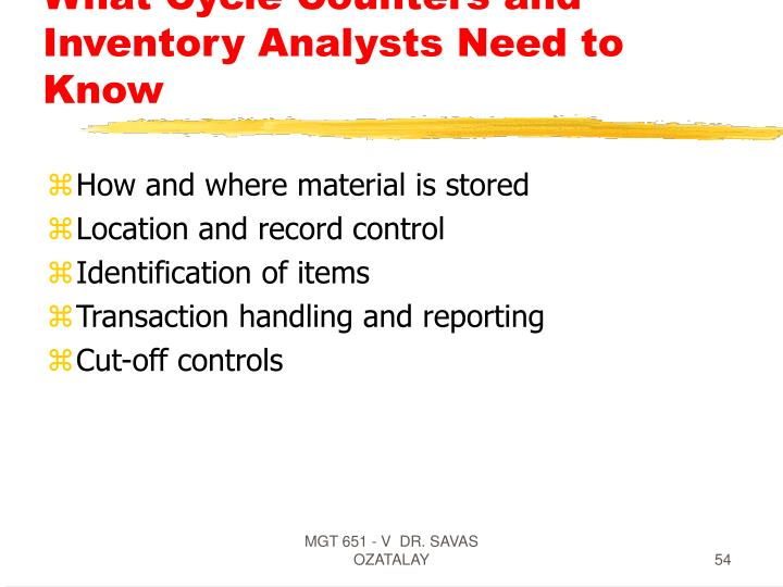 What Cycle Counters and Inventory Analysts Need to Know