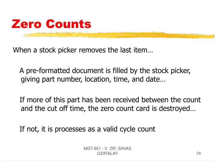 Zero Counts