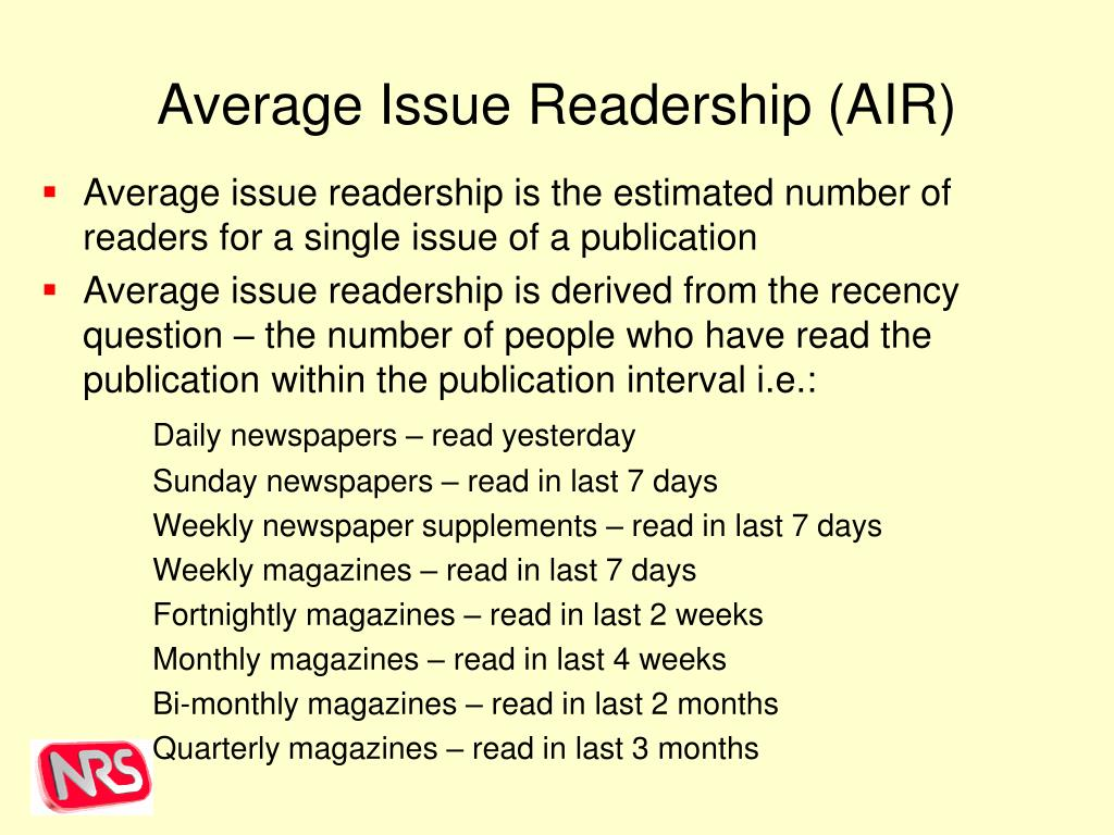 Average Issue Readership (AIR)