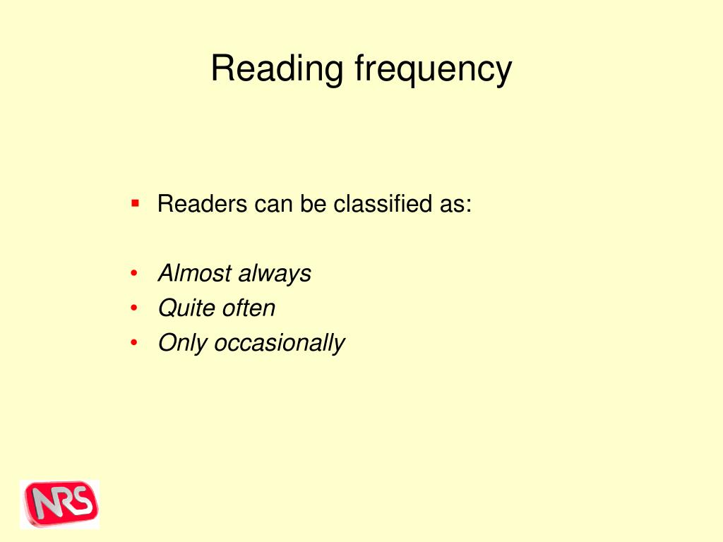 Reading frequency