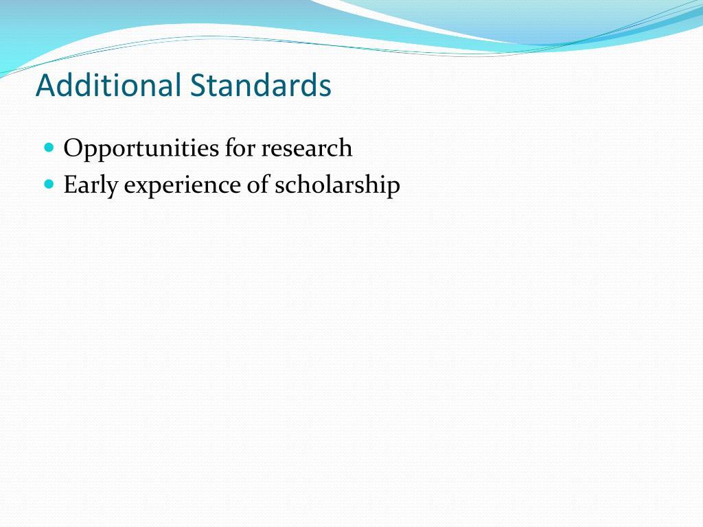 Additional Standards