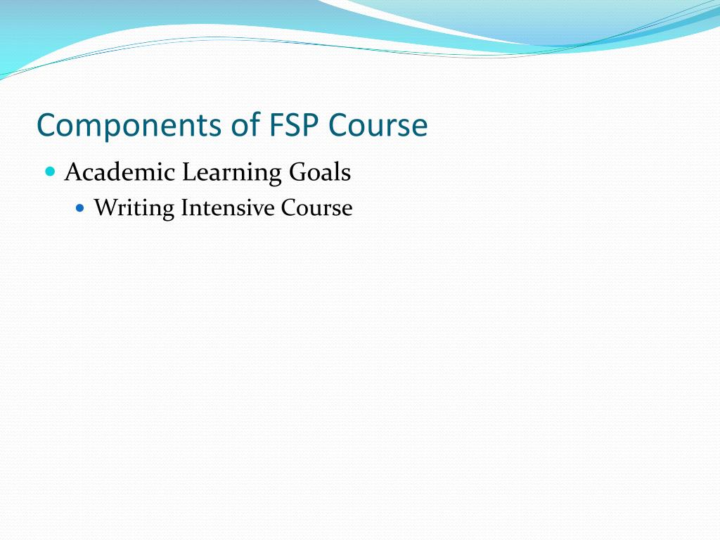Components of FSP Course