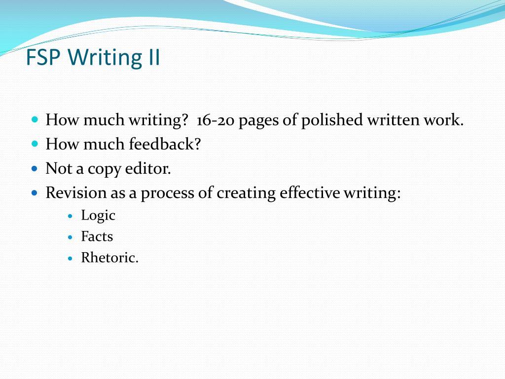 FSP Writing II