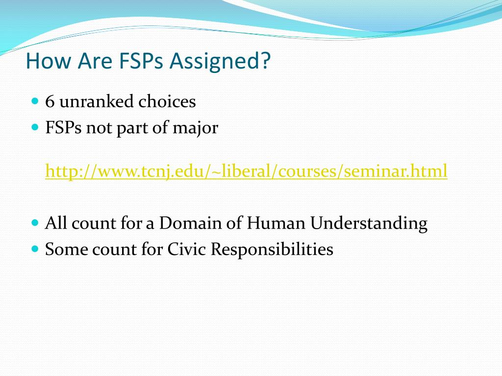 How Are FSPs Assigned?