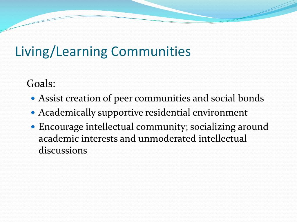 Living/Learning Communities