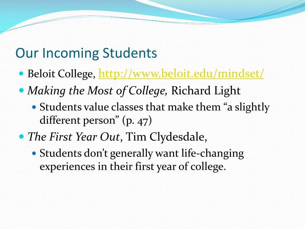 Our Incoming Students