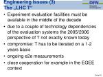 engineering issues 3 the lhc t