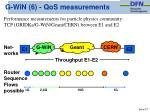 g win 6 qos measurements
