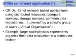 grids as network application 1