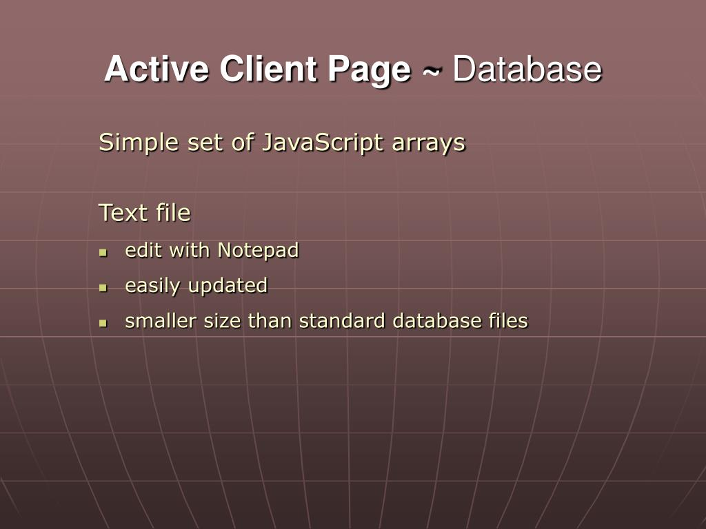 Active Client Page ~