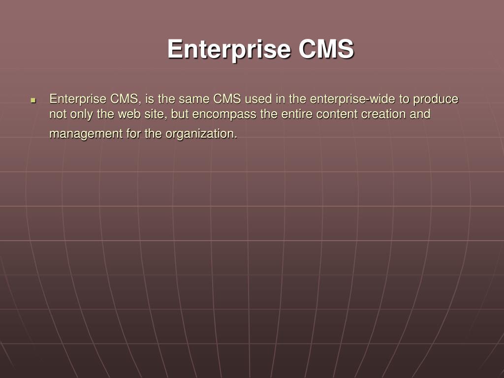 Enterprise CMS