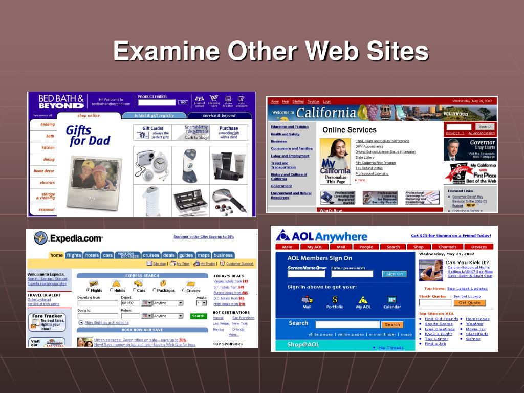 Examine Other Web Sites