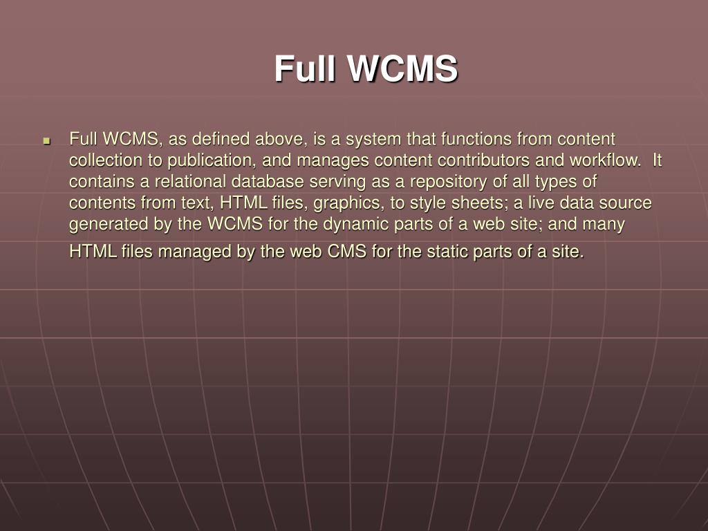 Full WCMS