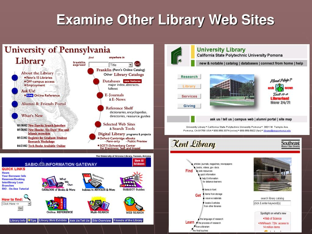 Examine Other Library Web Sites