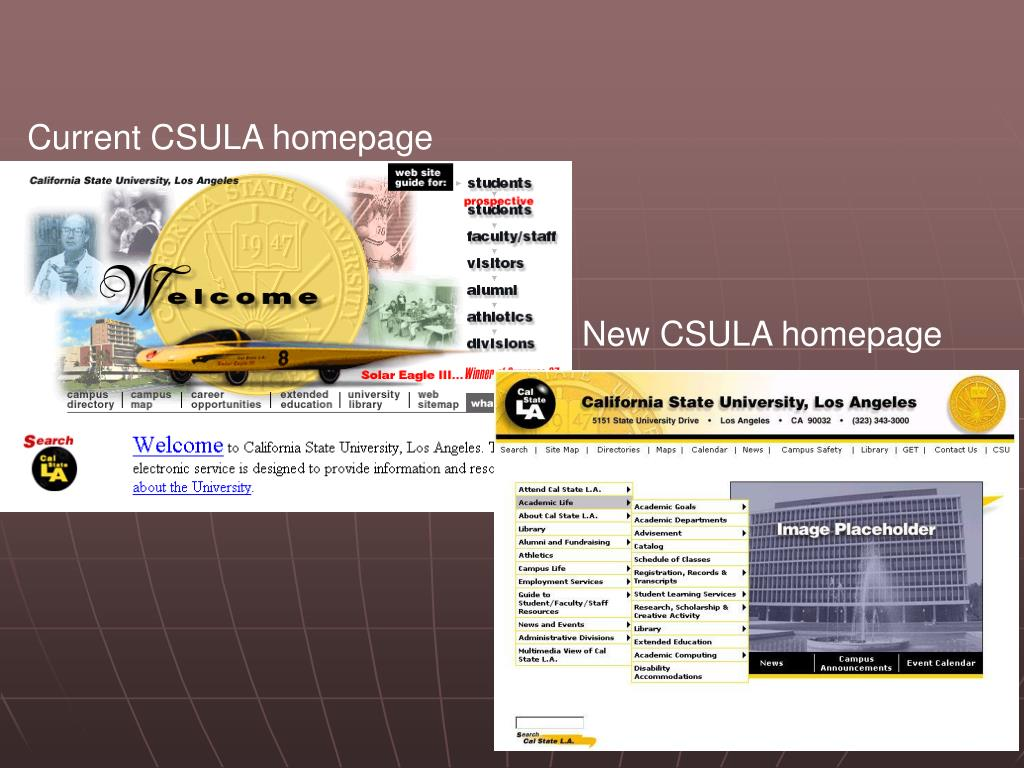 Current CSULA homepage