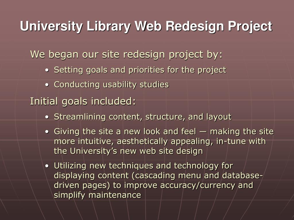 University Library Web Redesign Project