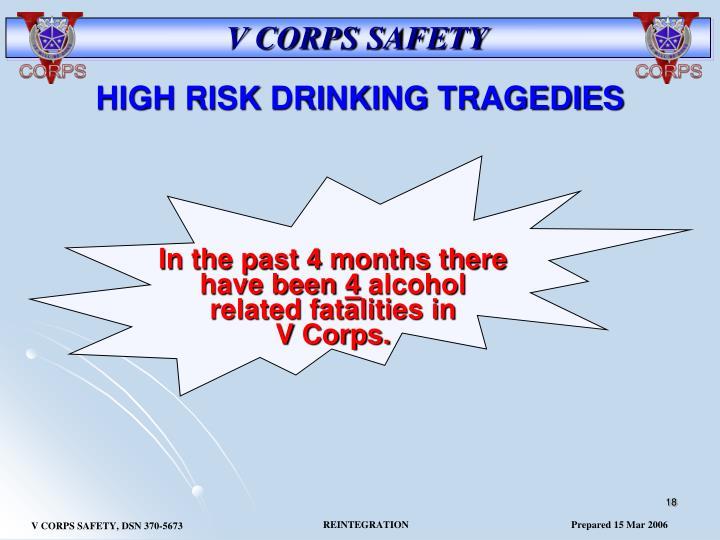 HIGH RISK DRINKING TRAGEDIES