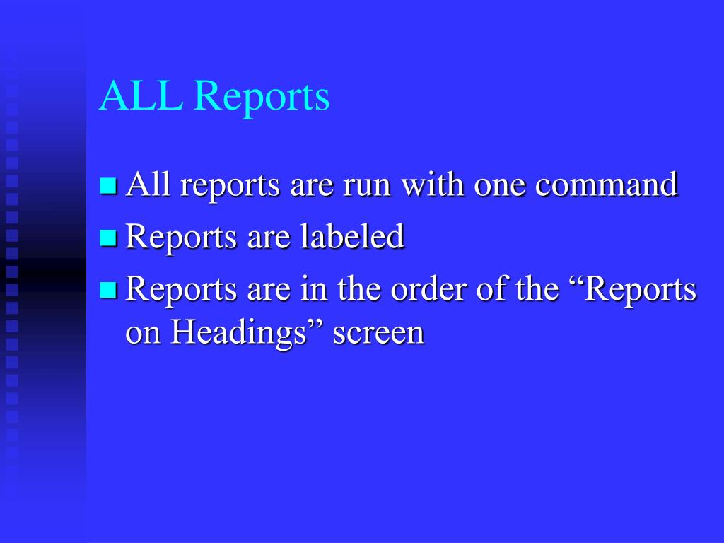 ALL Reports