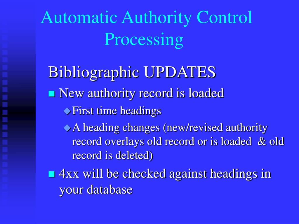 Automatic Authority Control