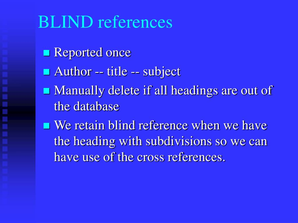 BLIND references