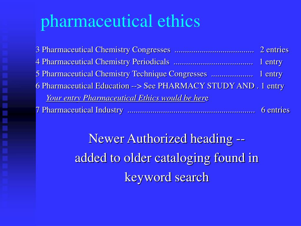 pharmaceutical ethics