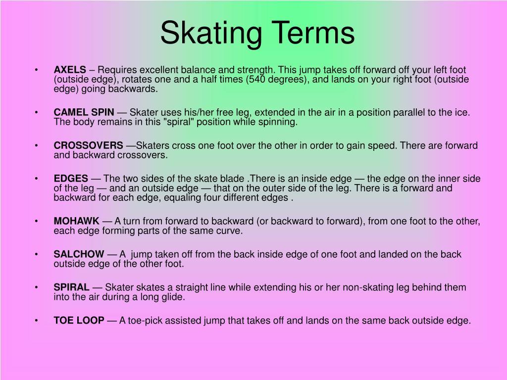 Skating Terms