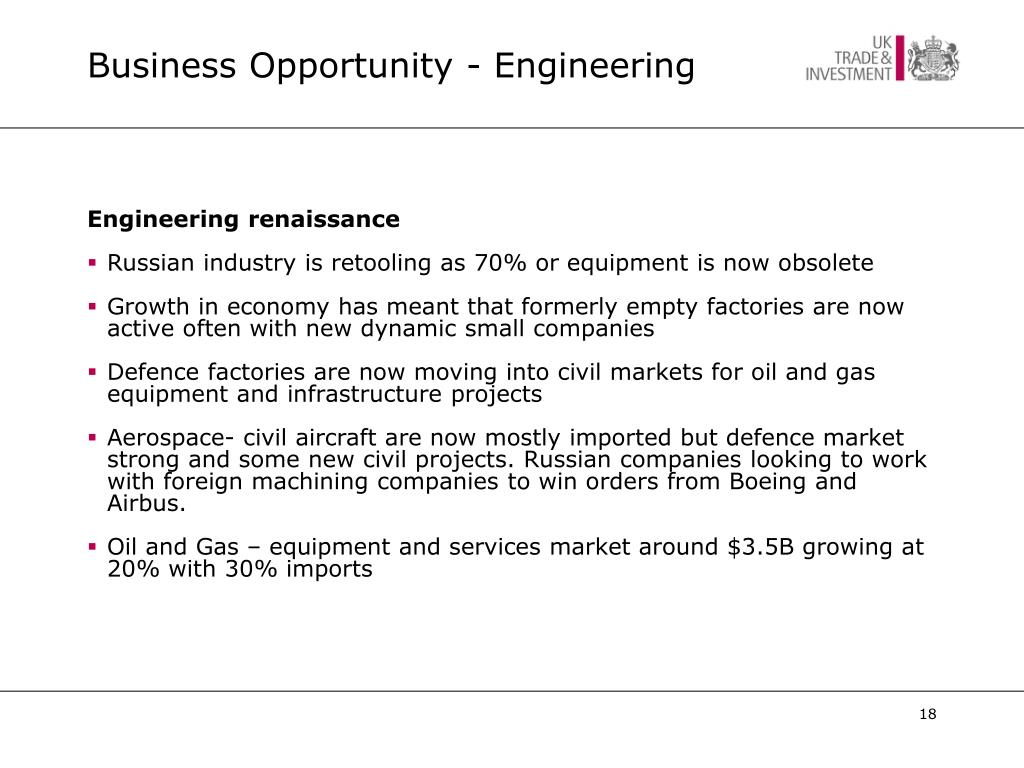 Business Opportunity - Engineering