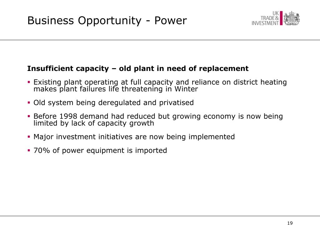Business Opportunity - Power
