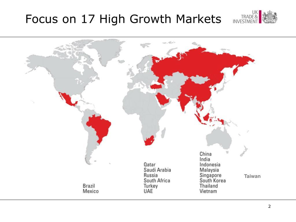 Focus on 17 High Growth Markets