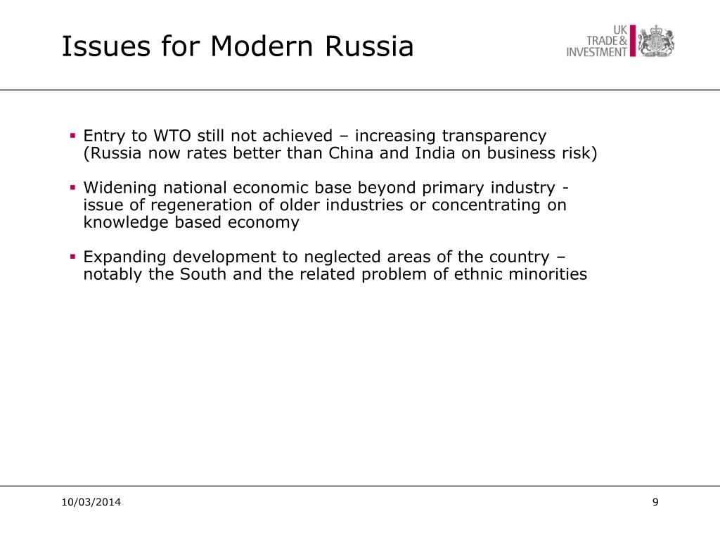 Issues for Modern Russia
