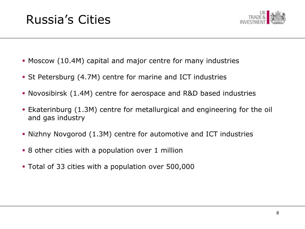 Russia's Cities